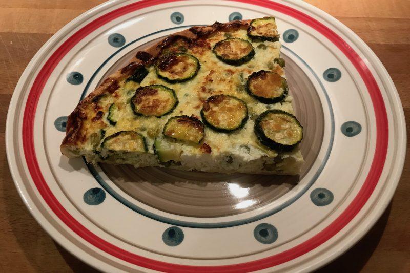 Brisè ricotta, piselli e zucchine