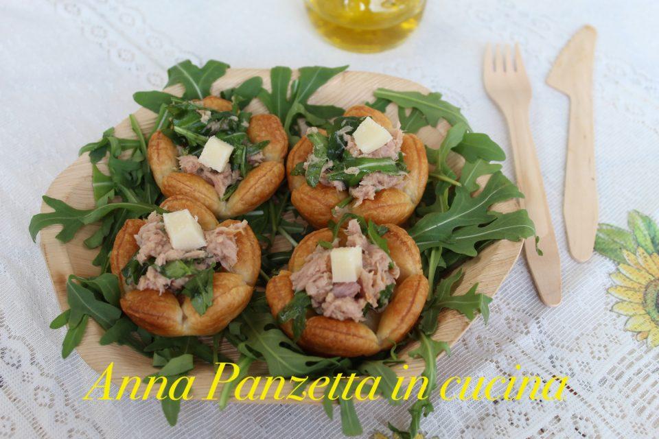 Cestini di frolla salata ripieni