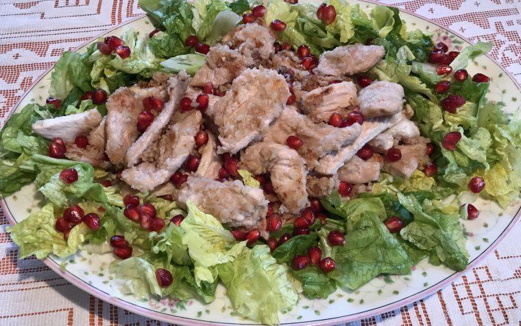 Straccetti di pollo con melograno