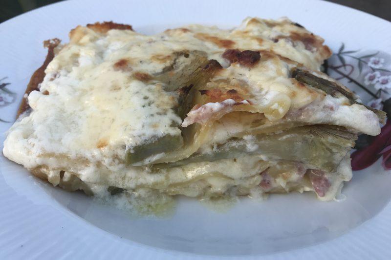 Lasagna con i carciofi