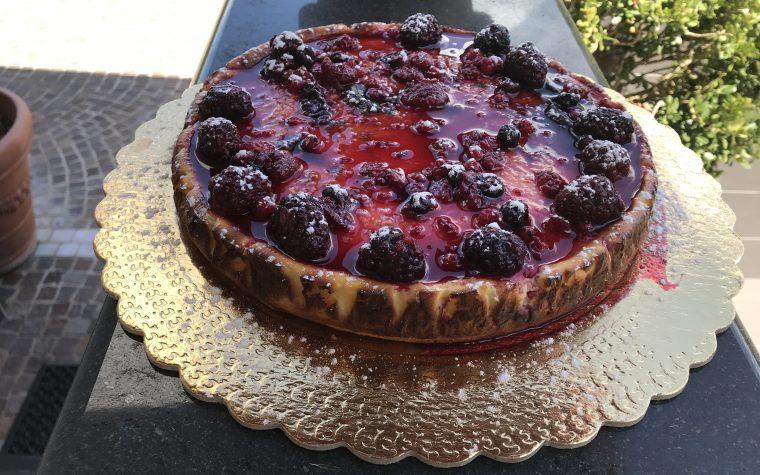 Cheesecake New York con frutti di bosco